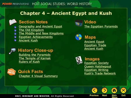 Chapter 4 – Ancient Egypt and Kush