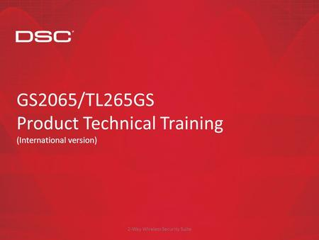GS2065/TL265GS Product Technical Training (International version)