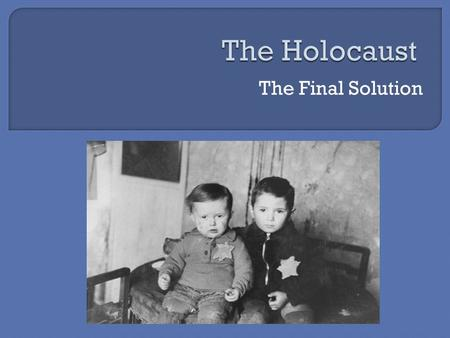 The Final Solution.  Animated map