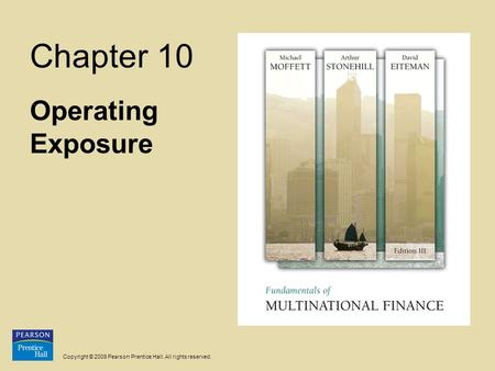 Chapter 10 Operating Exposure.