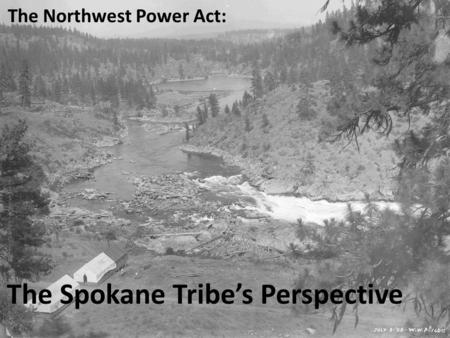 The Northwest Power Act: The Spokane Tribe's Perspective.