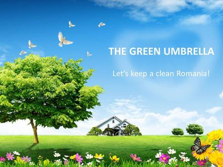THE GREEN UMBRELLA Let's keep a clean Romania!. Context Environment protection was a main priority for our company since the beginning of our activity.