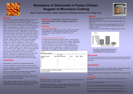 Results Bacteria were detected at 10 3 cells/g in un-injected controls, but none were Salmonella sp. Salmonella recovery from injected controls exceeded.