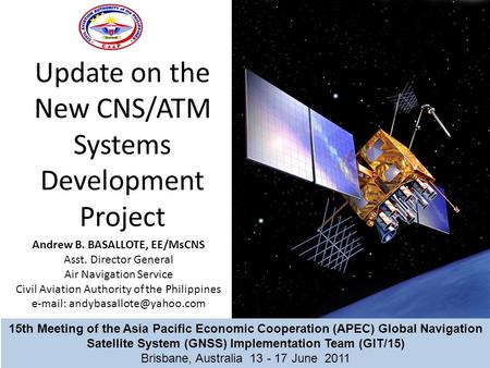 Update on the New CNS/ATM Systems Development Project