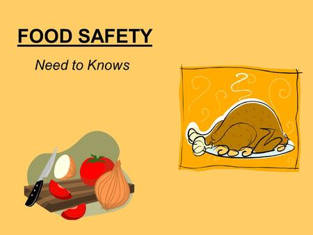 FOOD SAFETY Need to Knows.