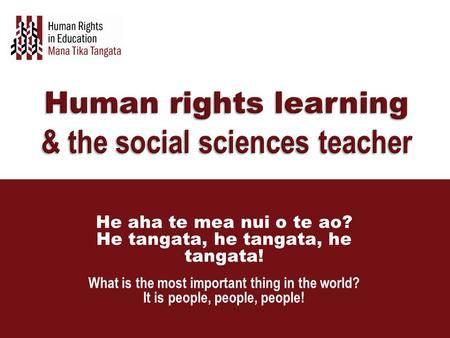Human rights learning & the social sciences teacher