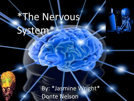 *The Nervous System* By: *Jasmine Wright* Donte Nelson.
