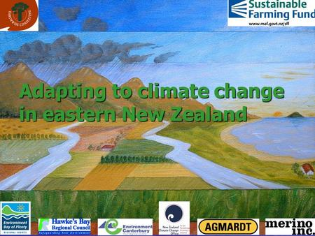 Adapting to climate change in eastern New Zealand.