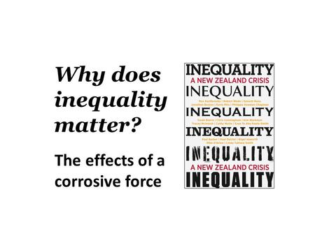 Why does inequality matter? The effects of a corrosive force.