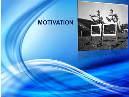 MOTIVATION. Encouraging people to take more initiative and interest in the work assigned. Motivation means a process of stimulating people to action to.