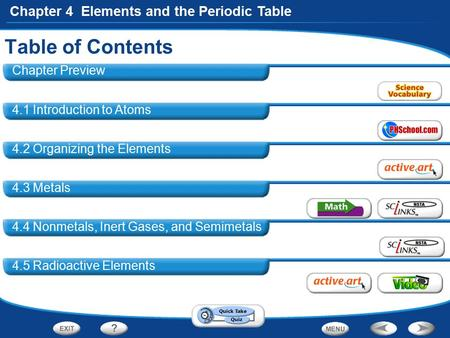 Table of Contents Chapter Preview 4.1 Introduction to Atoms