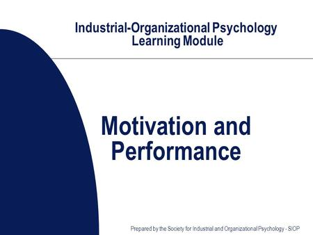 Organizational Psychology reserch work