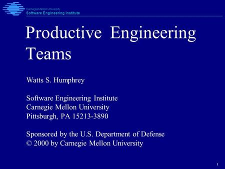 Productive Engineering Teams