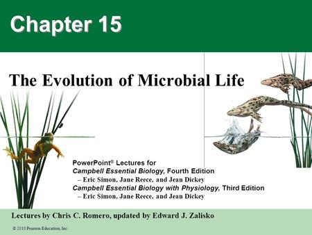 The Evolution of Microbial Life
