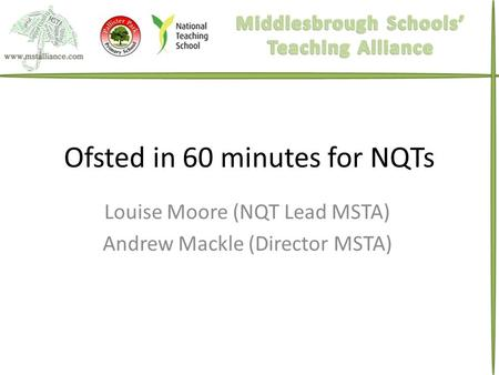 Ofsted in 60 minutes for NQTs