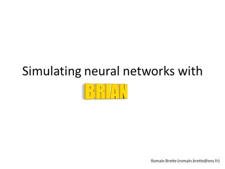 Simulating neural networks with Romain Brette