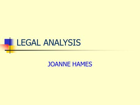 PA 499 Bachelor's Capstone in Paralegal Studies