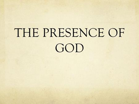 THE PRESENCE OF GOD. 12 Moses said to the LORD, You have been telling me, 'Lead these people,' but you have not let me know whom you will send with me.