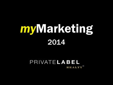 MyMarketing 2014. The Agenda Intro Overview Chatter Future Releases Q&A.