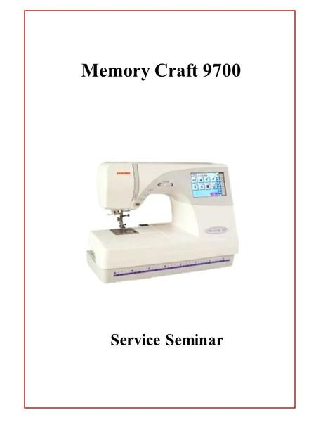 Service Seminar Memory Craft 9700. Removing the Face Plate 1. Open the face plate. 2. Remove the 2 screws and remove the face plate. 1.