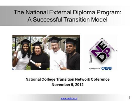 The National External Diploma Program: A Successful Transition Model