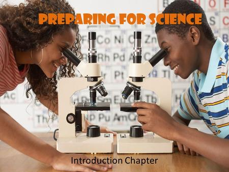 Preparing for Science Introduction Chapter. Objectives Carry out simple investigations and draw a valid conclusion from it. Explain the scientific method.