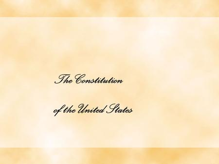The Constitution of the United States. This is the Preamble (or introduction) of the Constitution.