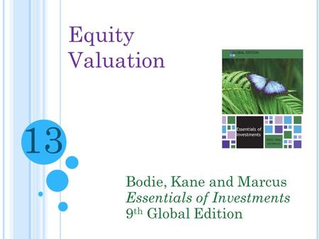 13 Equity Valuation Bodie, Kane and Marcus