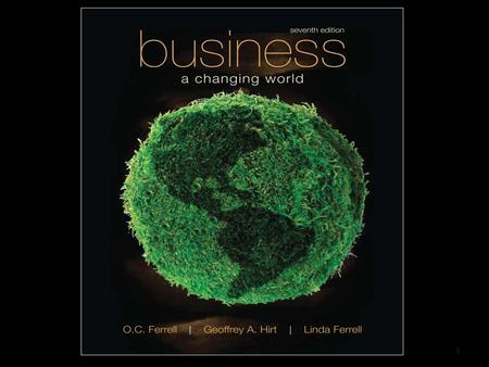 1. Business in a Changing World McGraw-Hill/Irwin Copyright © 2009 by the McGraw-Hill Companies, Inc. All rights reserved. Chapter 1 The Dynamics of Business.