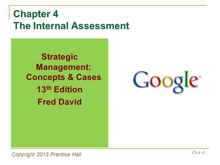 Chapter 4 The Internal Assessment