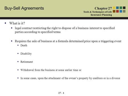 Module 7: Primer On Buy-Sell Agreements - Ppt Download