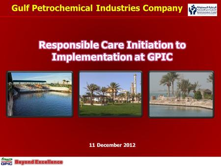 Responsible Care Initiation to Implementation at GPIC