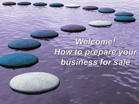 "Welcome! ""The 11 commandments to selling your business for all it's worth"""