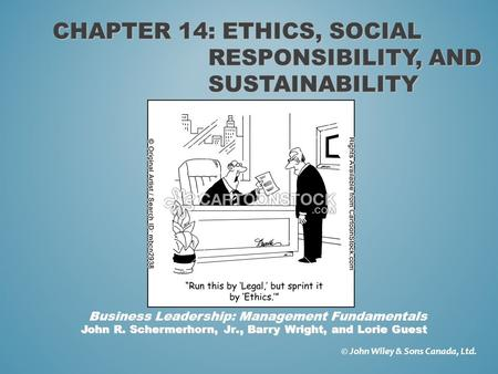 Chapter 14: ethics, social responsibility, and sustainability