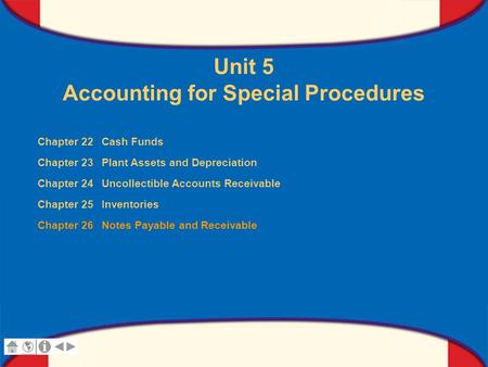 Chapter 26 Notes Payable and Receivable