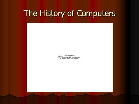 The History of Computers. Evolution of Mechanical Evolution of Mechanical Computers  A computer is An electronic device for the storage and processing.