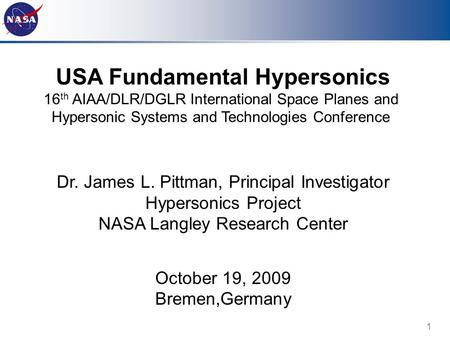 USA Fundamental Hypersonics