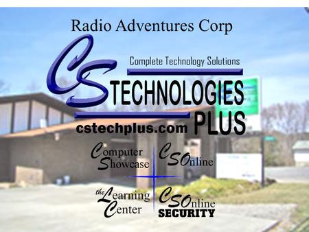 Radio Adventures Corp. Authorized Computer Sales & Service.