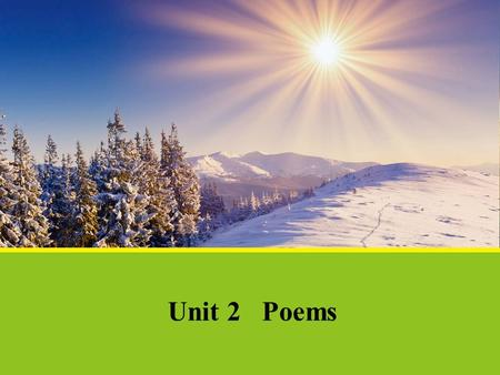 Unit 2 Poems.
