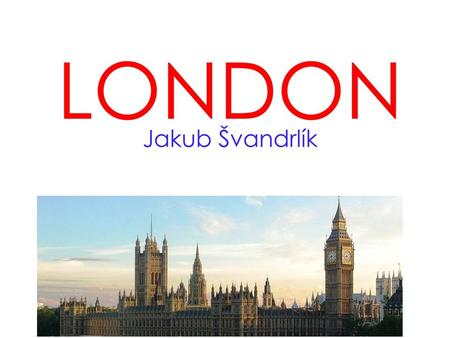 London is the capital of the Great Britain. Is one of the largest cities in the world. It has around 7 500 000 inhabitants.