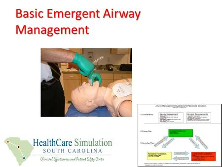 Basic Emergent Airway Management. Station: Laryngeal Mask Ventilation—Rescue airway and Applied Guidelines practice -LMA Indications, contraindications,