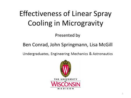 Effectiveness of Linear Spray Cooling in Microgravity