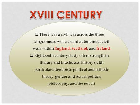  There was a civil war across the three kingdoms as well as semi-autonomous civil wars within England, Scotland, and Ireland.  Eighteenth-century study.