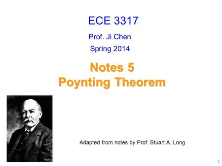 Notes 5 Poynting Theorem