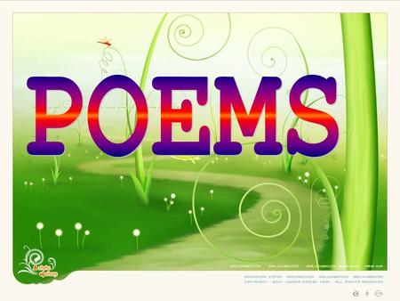 How many poets do you know? Can you remember any poems you have read in school, either in Chinese or in English?