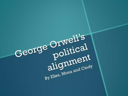 Rhetorical strategies used by george orwell
