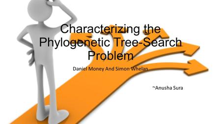 Characterizing the Phylogenetic Tree-Search Problem Daniel Money And Simon Whelan ~Anusha Sura.