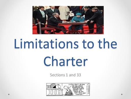 Limitations to the Charter