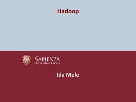 Hadoop Ida Mele. Parallel programming Parallel programming is used to improve performance and efficiency In a parallel program, the processing is broken.