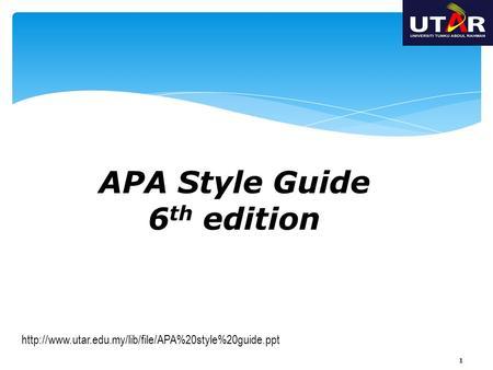 apa refrencing guide